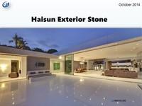 Haisun Exterior Stone Wall Cladding Floor Tile