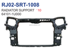 autoparts radiator support for kia sorento '10 steel 64101-1U000