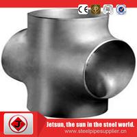 carbon steel weld reducing cross pipe fittings