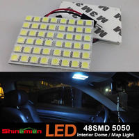 48 SMD 5050 LED Festoon Dome/Door/Box Light Panel Interior Bulb T10 BA9s Festoon