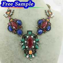 Europe and the United States Big Exaggerated Necklace with Heavy Pendant