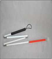 120-150cm Aluminum floding white blind cane for blind people Can be foot set of Rotation