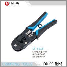 Ly-t218 red RJ45 Cat6 cable herramienta que prensa terminal de red cable crimp Tool para planas y redondas cable