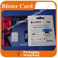 SD card packaging,blister paking, blister product packaing