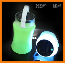 portable rechargeable night light Waterproof Silicone bottle never needs battery