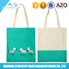 Manufacturer Custom Nature Color Canvas Shopping Bag