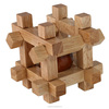 china wholesale ball in cube wooden brain teaser puzzle