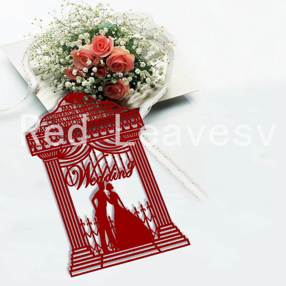 Graceful Decoration Bride And Groom Paper Cutting Marriage ...
