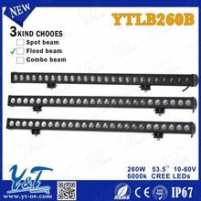 Y&T auto parts hot sell ATV Parts 6000k car accessories 260w Car LED Light Bar led spot light 12v