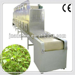 tunnel microwave herbs drying and sterilization device