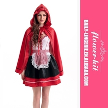 HOT Women Deluxe Sexy Little Red Riding Hood costume Fancy Dress Party sexy Halloween Costume