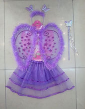 Butterfly wings skirt headband childrens party accessories