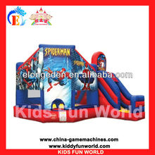 Spider man inflatable monster truck bouncer