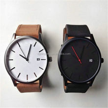 2015 hot selling high quality watch fashion men style leather strap military watch