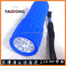 any color available mini flash 9 led light torch
