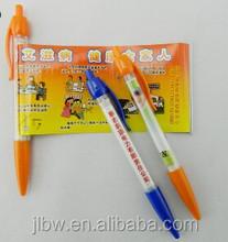 transparent BIC style banner ball pen