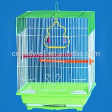 Plegable de alambre de acero de metal jaulas de pájaros, nido de pájaro, la cría de aves de la casa para throstle