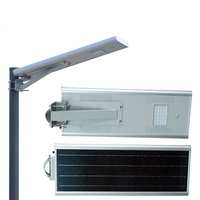 18w all in one integrated garden solar panel ip65 led street light
