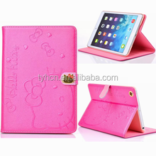 3D Cartoon Lovely Folio Hello Kitty Cover Case with Stands for iPad 2 3 4 5 Air Mini