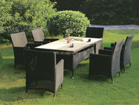 Modern table and chairs set outdoor furniture