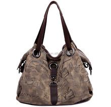 Women's Vintage Casual Canvas Everyday Purse Hobo Shoulder Bag Organic Cotton Canvas Tote Bag
