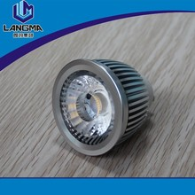 Langma High Brightness 220V-240V Aluminum Warm white 5W COB LED GU10 Spot Light 460 Lumens Ra>85