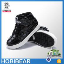 HOBIBEAR 2015 black kids popular fashion shoe kid male skateboard shoes