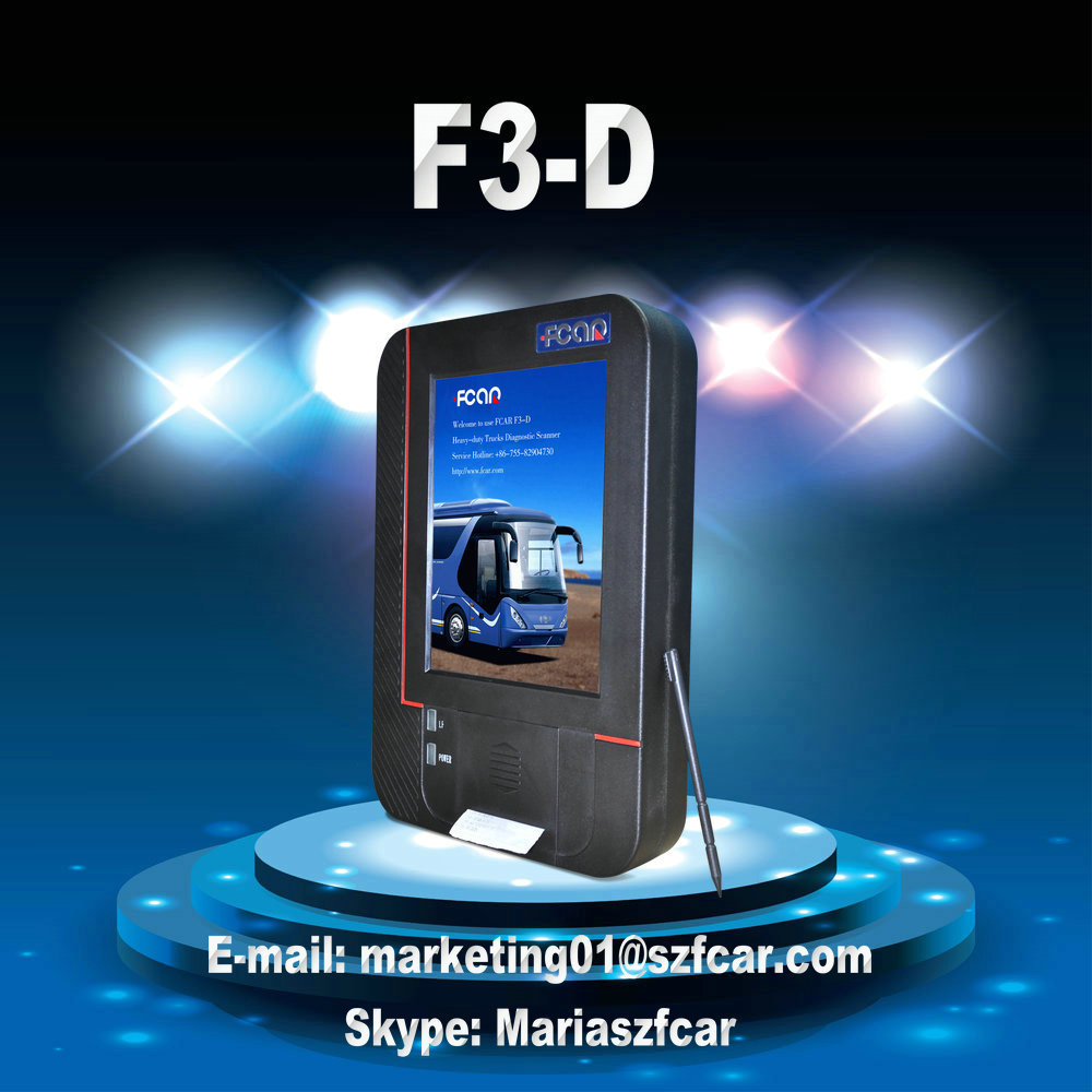 Fcar F3-D heavy duty truck e máquina diagnose scanner para o gato UD HINO DOOSAN