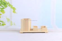 New product and beautiful wood crafts pen container/Brush Pot