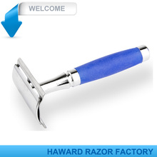 D649 Double edge safety razor with rubber handle