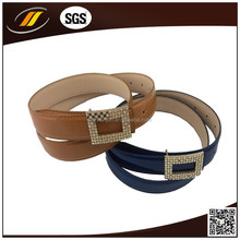 PU Leather Belt with Alloy Buckle