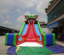 Guangzhou inflatable dragon slide/ inflatable giant dragon slide