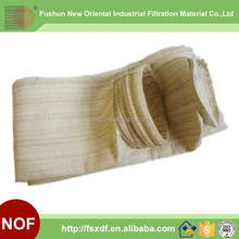 High temperature resistant NOMEX nonwoven dust collector filter bag