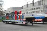 cheap low bed cargo trailer truck
