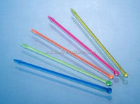 90mm length Cocktail stirrers/plastic ball pick/disposable drink stirrer