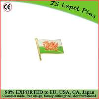 Custom Top Quality Competitve Pricing Fast Shipping Satisfaction Guaranteed Welsh Dragon Flag Lapel Pin
