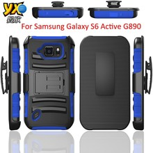 3 in 1 Belt Clip Holster Defender Cases Covers For Samsung Galaxy S6 Active G890