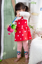 2015 stylish charming full cotton baby girl frock of Korean version kids fancy frocks