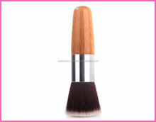 New Flat Top Cosmetic Makeup Tool Buffer Foundation Powder Brush Bamboo Handle Free sample