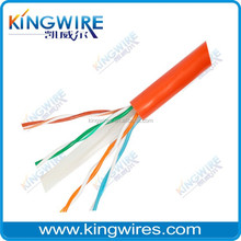 flat outdoor extension cat 6 utp cable 305m/roll lan cable