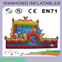 PVC tarpaulin excellent quality princess inflatable castle for sale, large inflatable bouncy bed for fun, inflatable castle