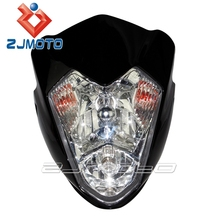 street fighter Streetfighter Street fighter moto Headlight Main for Motorcycle Bike Raider Black GSXR,FZR,YZF,GSX,CBR R1 R6
