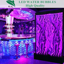swirl water bubble wall colourful indoor display screen led wall panel night club