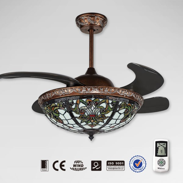 Hidden Ceiling Fan : New model retractable remote control ceiling fan with
