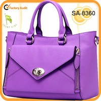 2015 Guangzhou fashion 100% genuine cow leather shoulder bag tote bag in stock