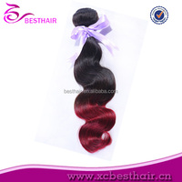 Cheap 28 inch human hair weave extension uk two tone color remy human hair