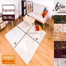 textile microfiber polyester shaggy silk large area prayer rug