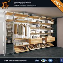 Bedroom wall wardrobe design with wardrobe cabinet