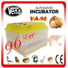 Alta tasa de eclosión de los huevos de pollo 96 criaderos máquina incubadora para la venta