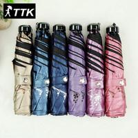 TTK ultra light carbon fiber seventy percent off small fresh ginkgo flower color gel UV sunscreen outdoor sunshade umbrella